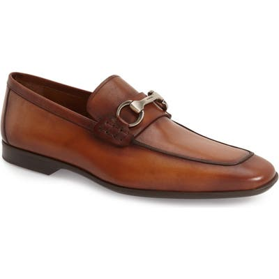 Magnanni Rafa Ii Apron Toe Bit Loafer, Brown