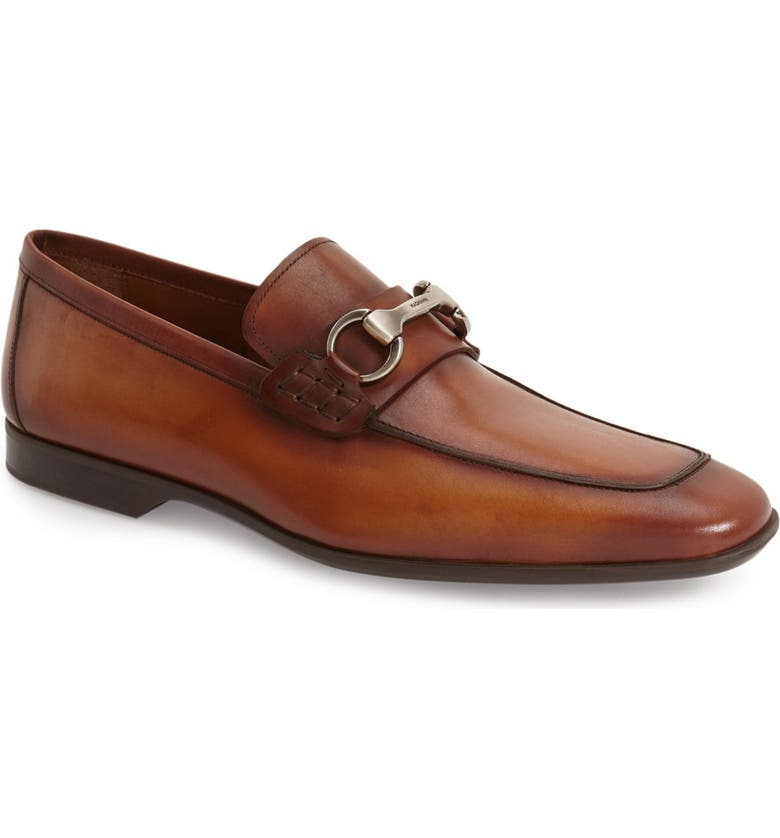 MAGNANNI Rafa II Apron Toe Bit Loafer, Main, color, COGNAC LEATHER