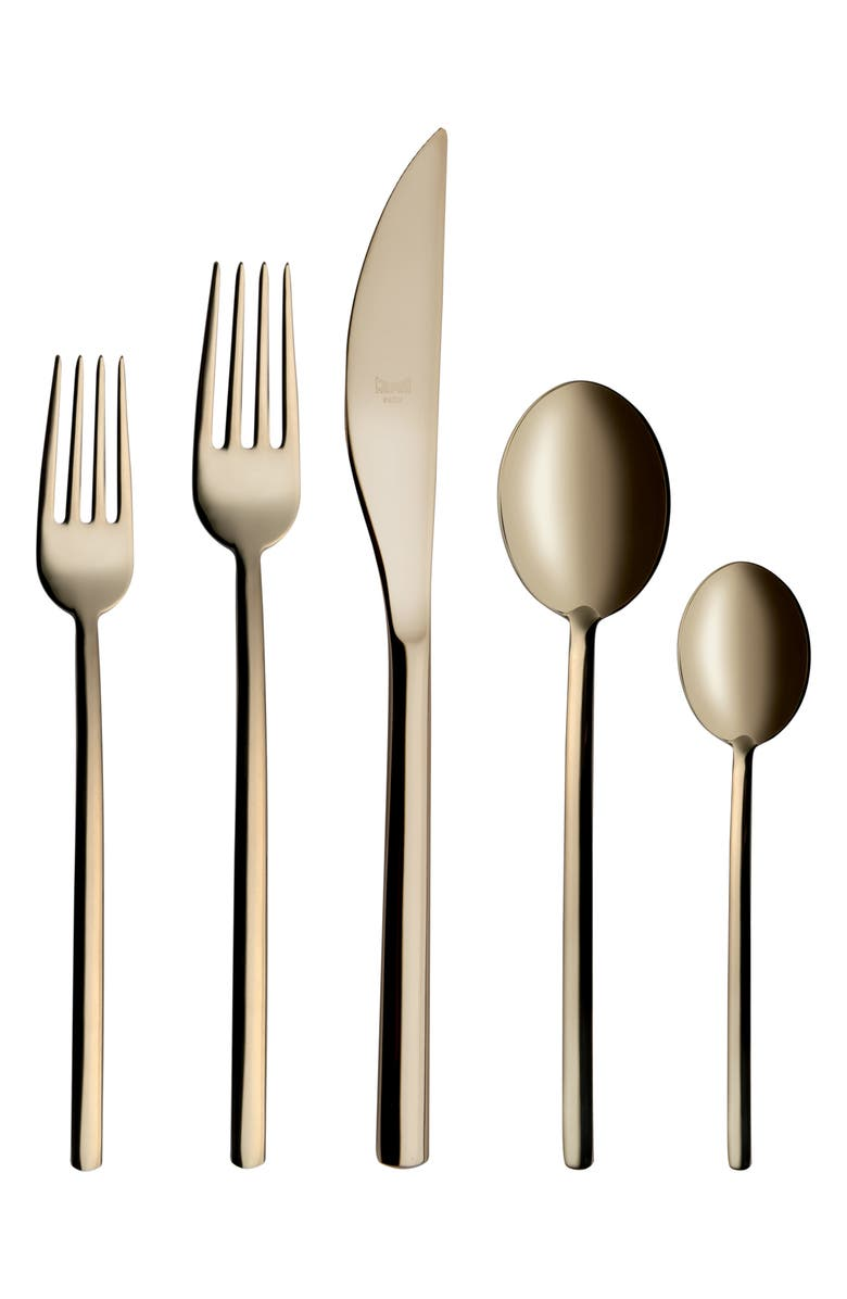 MEPRA Due 5-Piece Place Setting, Main, color, STAINLESS CHAMPAGNE