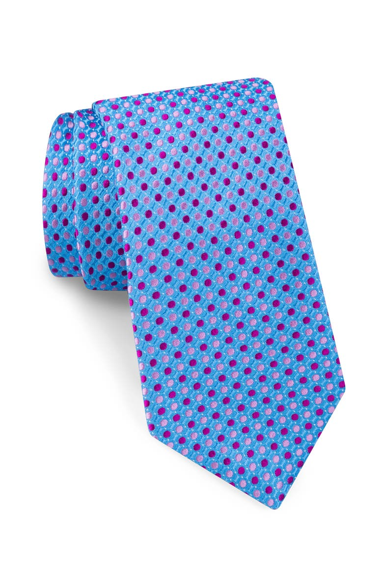 TED BAKER LONDON Alternating Dot Silk Tie, Main, color, 435