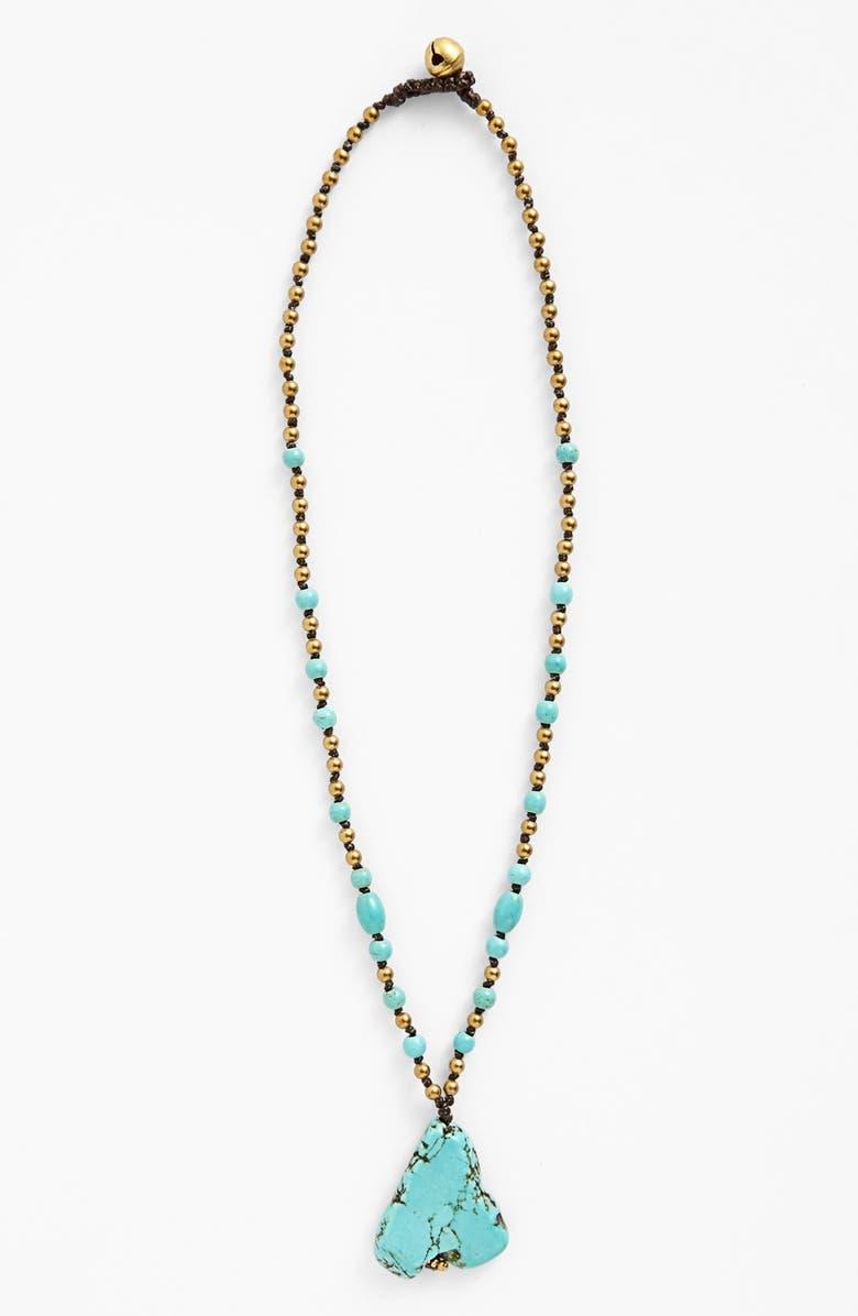 PANACEA Nugget Necklace, Main, color, TURQUOISE