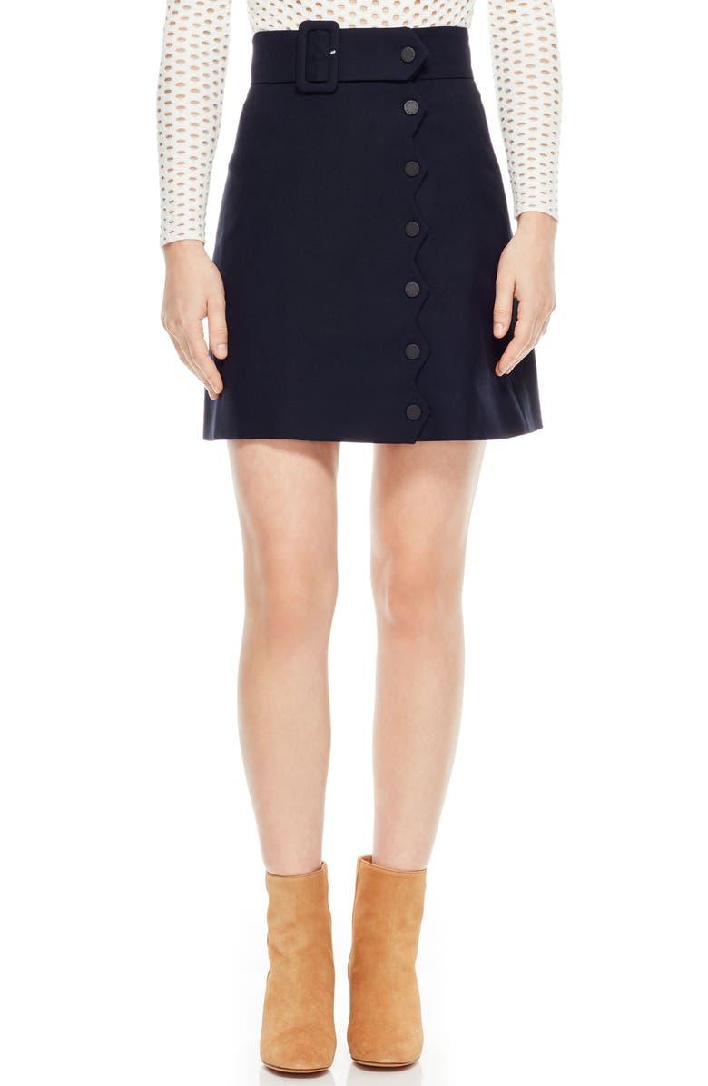 Sandro Laurene Snap Buckle Miniskirt