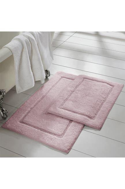 Image of Modern Threads Dusty Rose Solid Loop Non-Slip Bath Mat 2-Piece Set