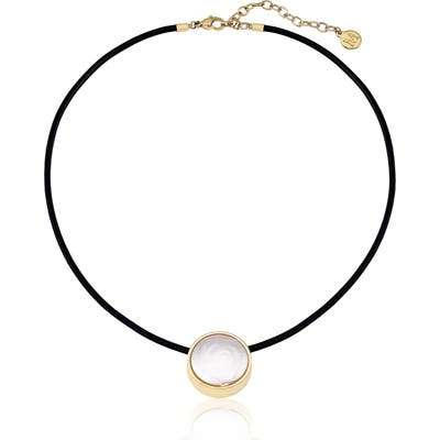 Majorica Simulated Flat Coin Pearl Necklace