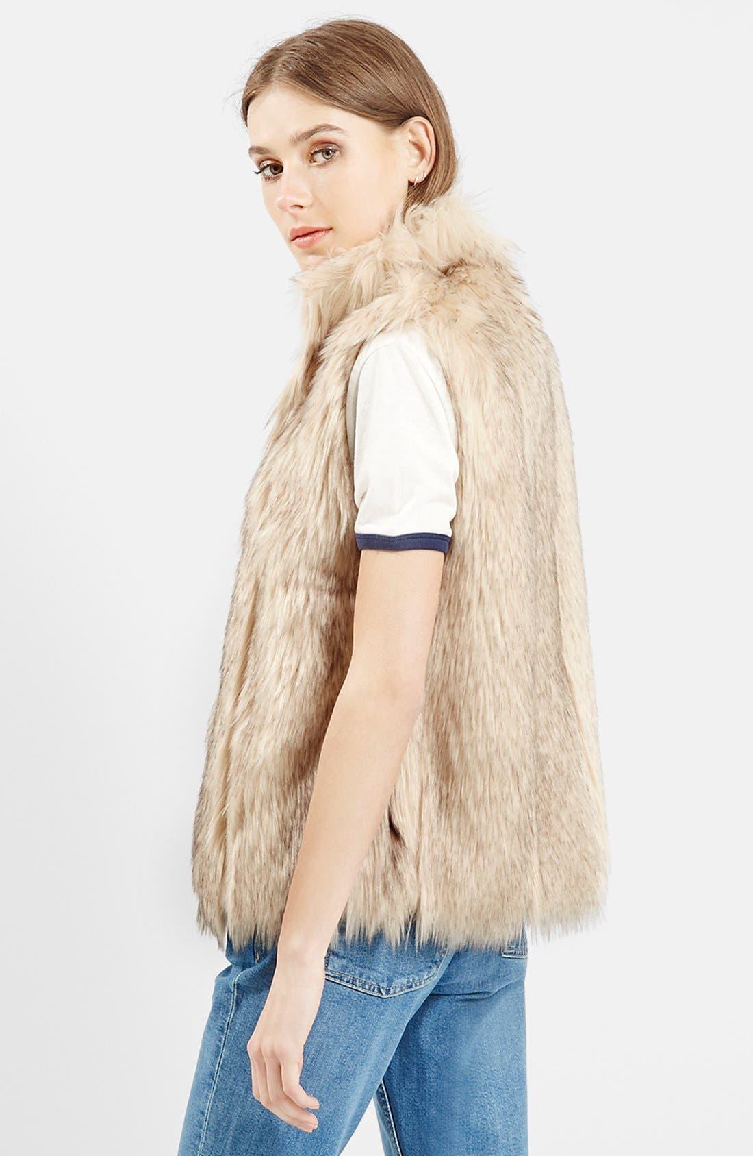 ,                             'Polo Leah' Faux Fur Vest,                             Alternate thumbnail 5, color,                             900
