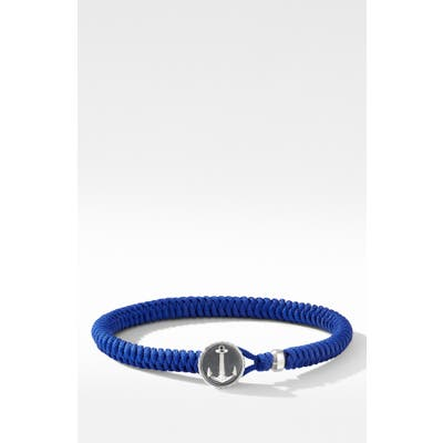 David Yurman Maritime Anchor Station Nylon Bracelet