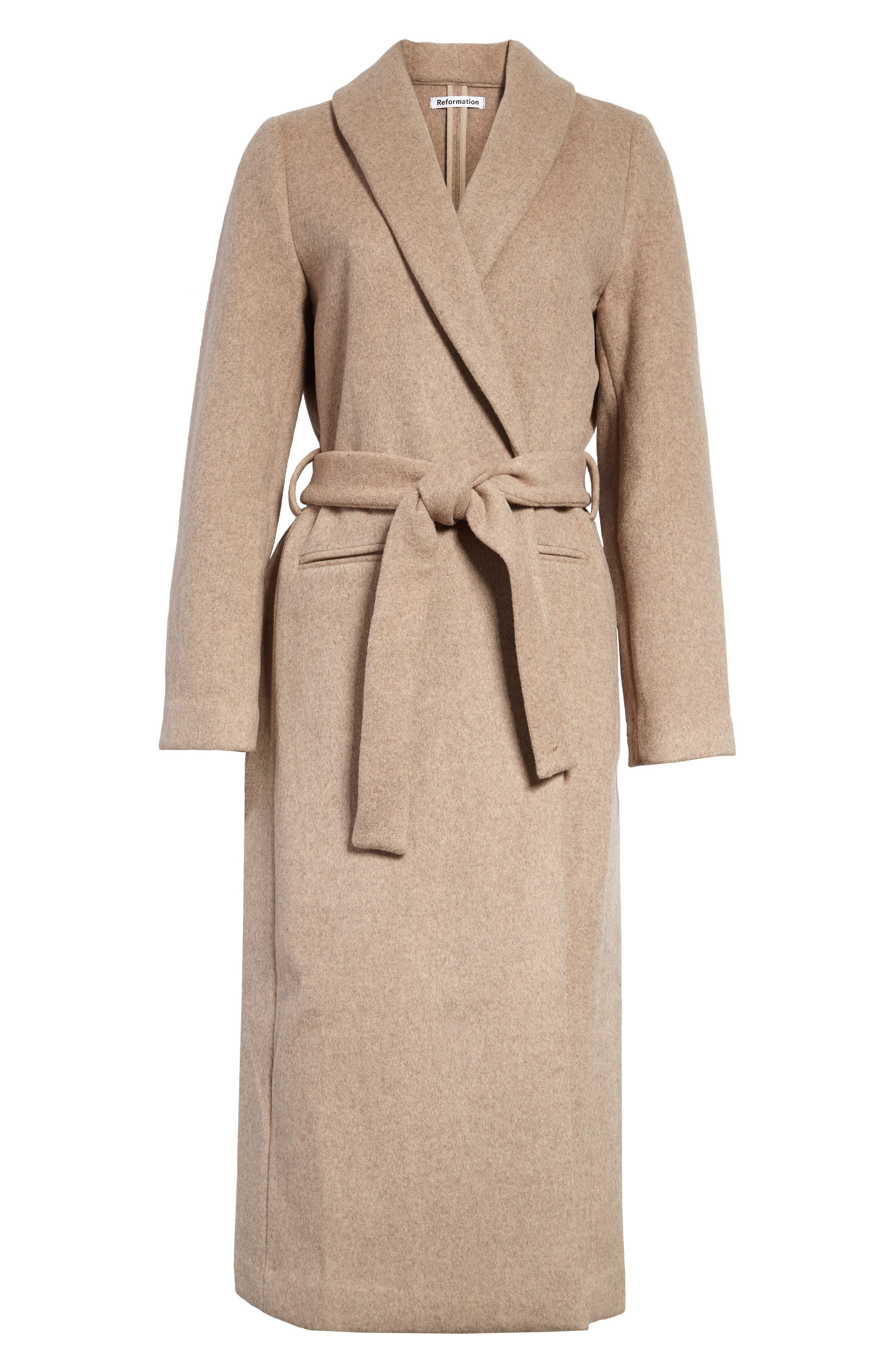 1930s Outfit Ideas for Women Womens Reformation Greenwich Coat Size Medium - Beige $288.00 AT vintagedancer.com