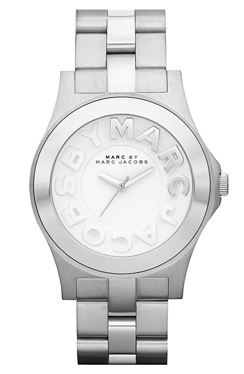 MARC BY MARC JACOBS 'Rivera' Round Bracelet Watch, Main, color, 040