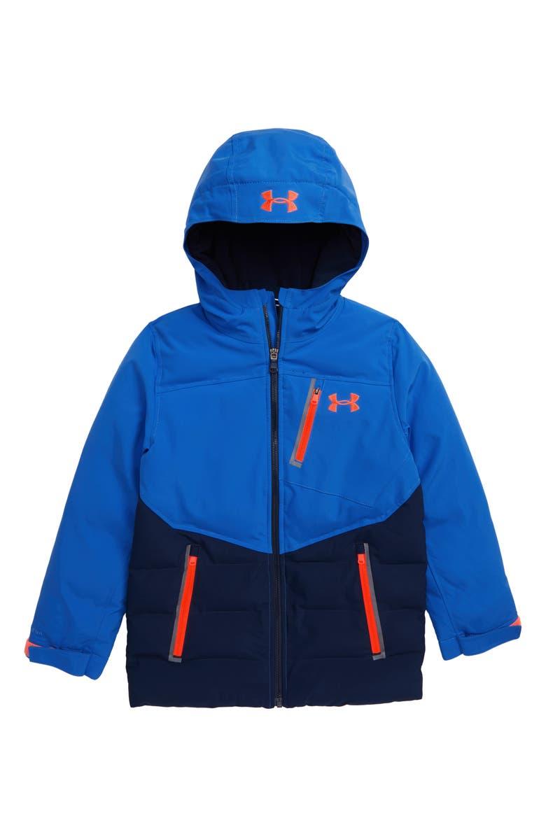UNDER ARMOUR Powderhound ColdGear<sup>®</sup> Waterproof Hooded Jacket, Main, color, POWDERKEG BLUE