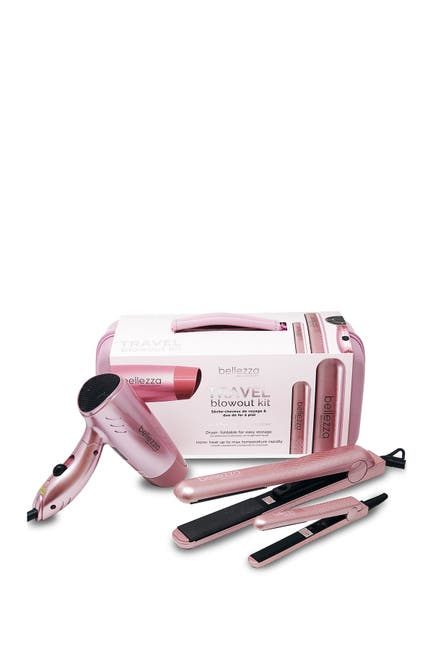 Image of Cortex USA Travel Blowout Kit - Mini Travel Dryer & Flat Iron Set