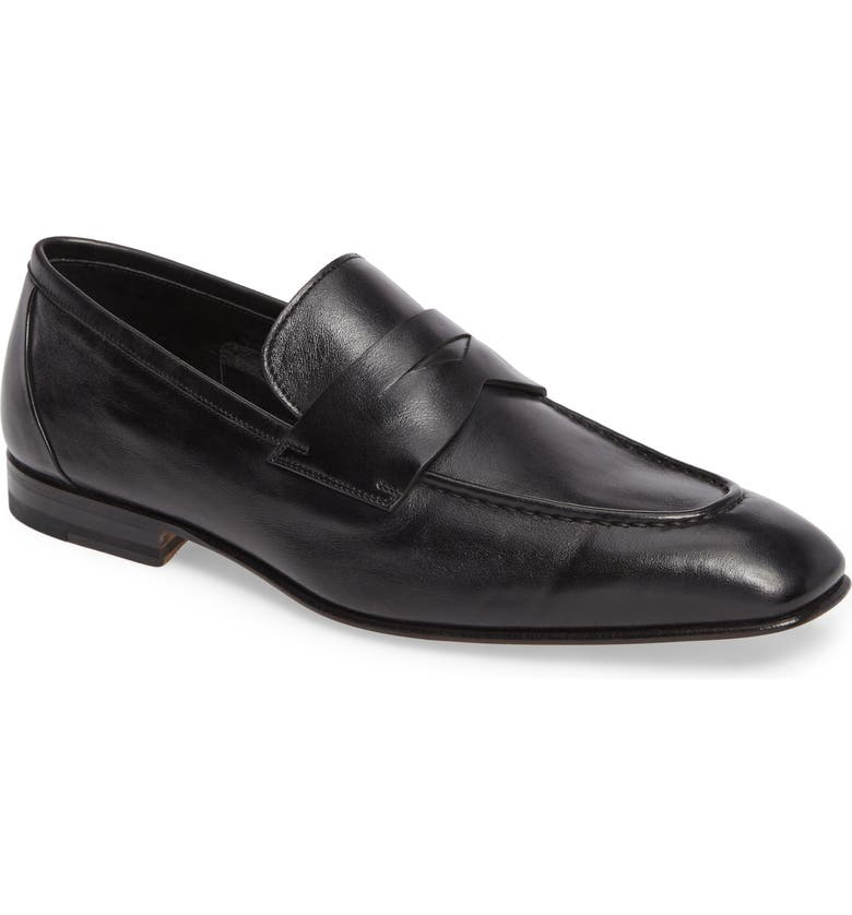 SANTONI Gannon Penny Loafer, Main, color, 001