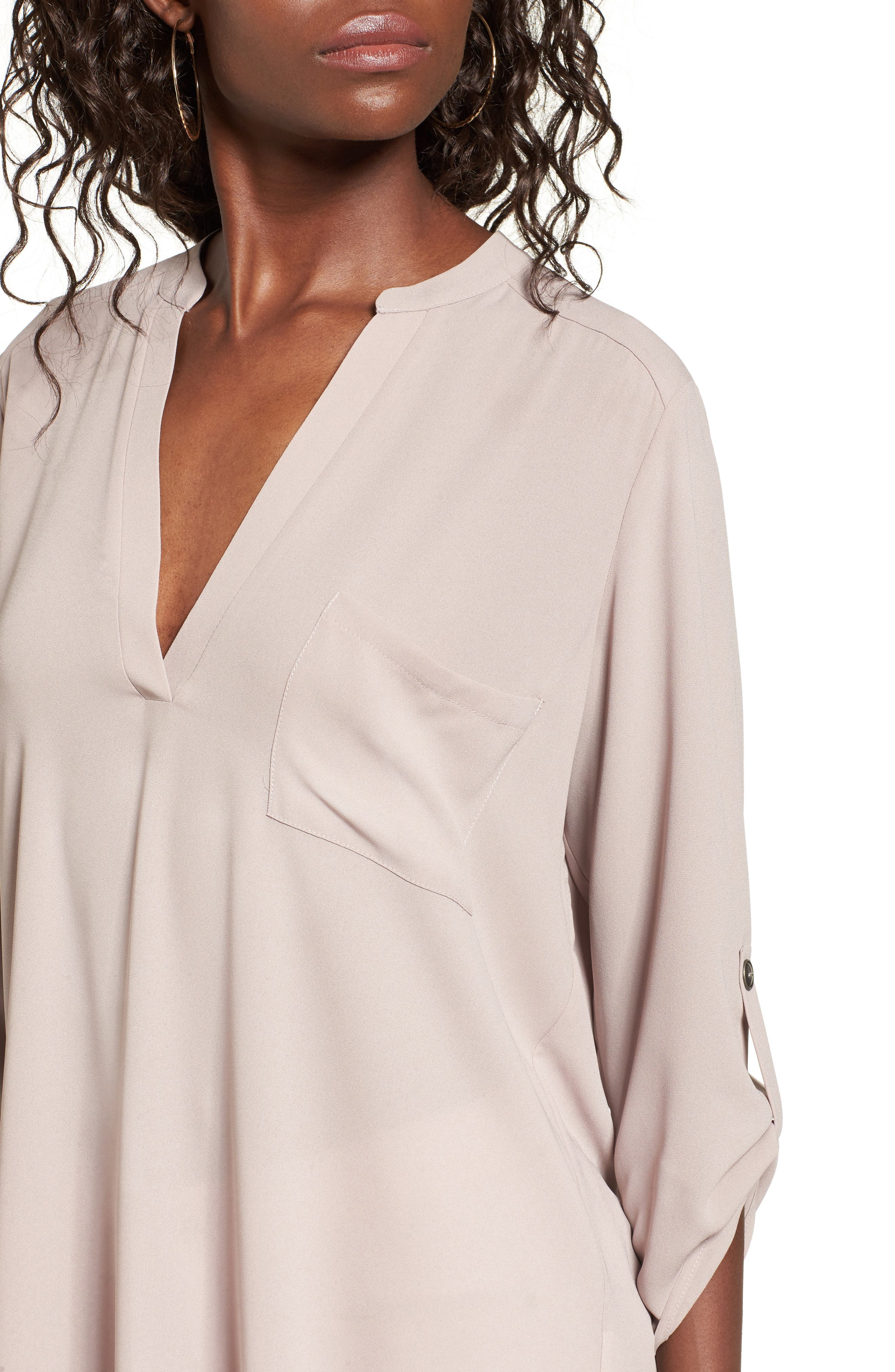 ,                             Perfect Roll Tab Sleeve Tunic,                             Alternate thumbnail 205, color,                             023
