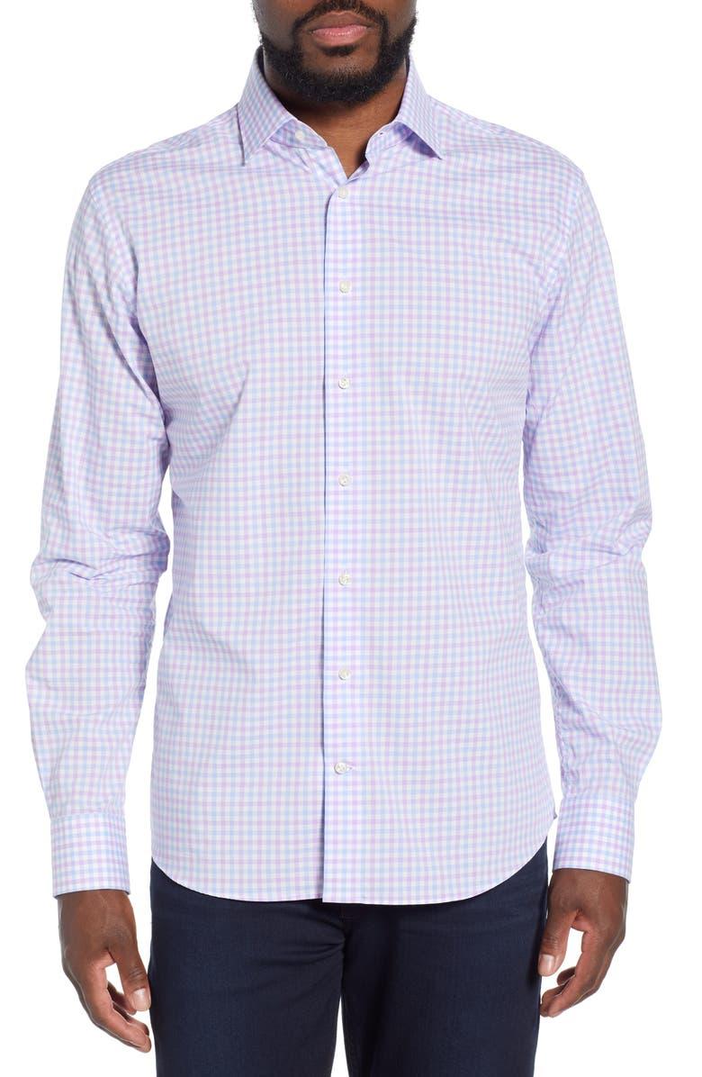 EMANUEL BERG Regular Fit Button-Up Shirt, Main, color, 500