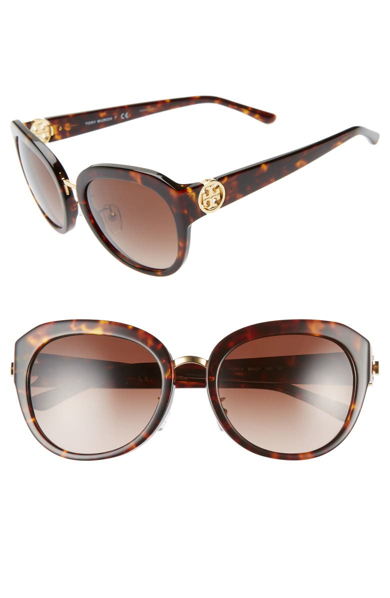 f4ea4e5603a5 Tory Burch Irregular Reva 56mm Sunglasses | Nordstrom