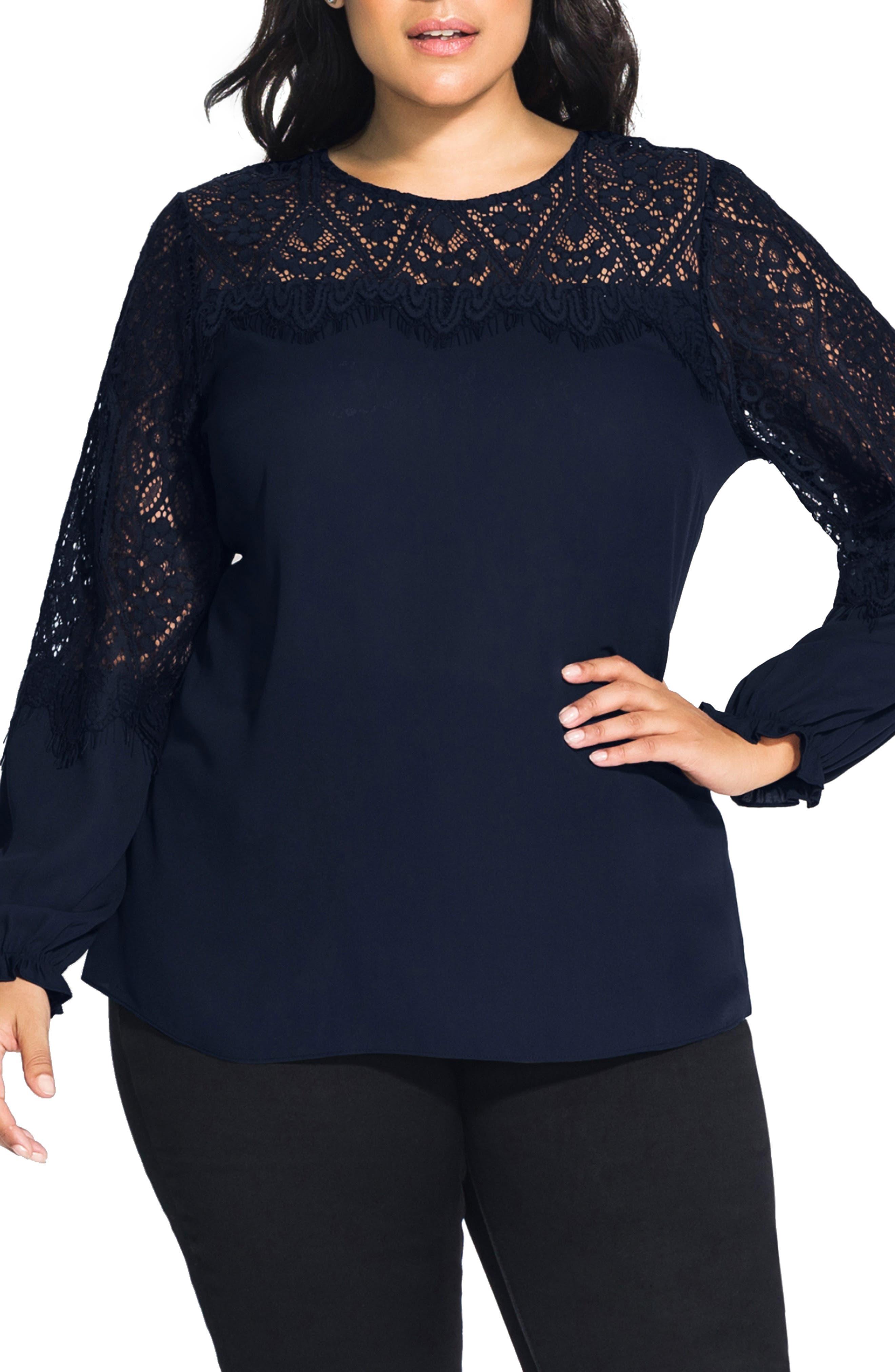 Victorian Plus Size Dresses | Edwardian Clothing, Costumes Plus Size Womens City Chic Victorian Shirt Size X-Small - Blue $75.00 AT vintagedancer.com