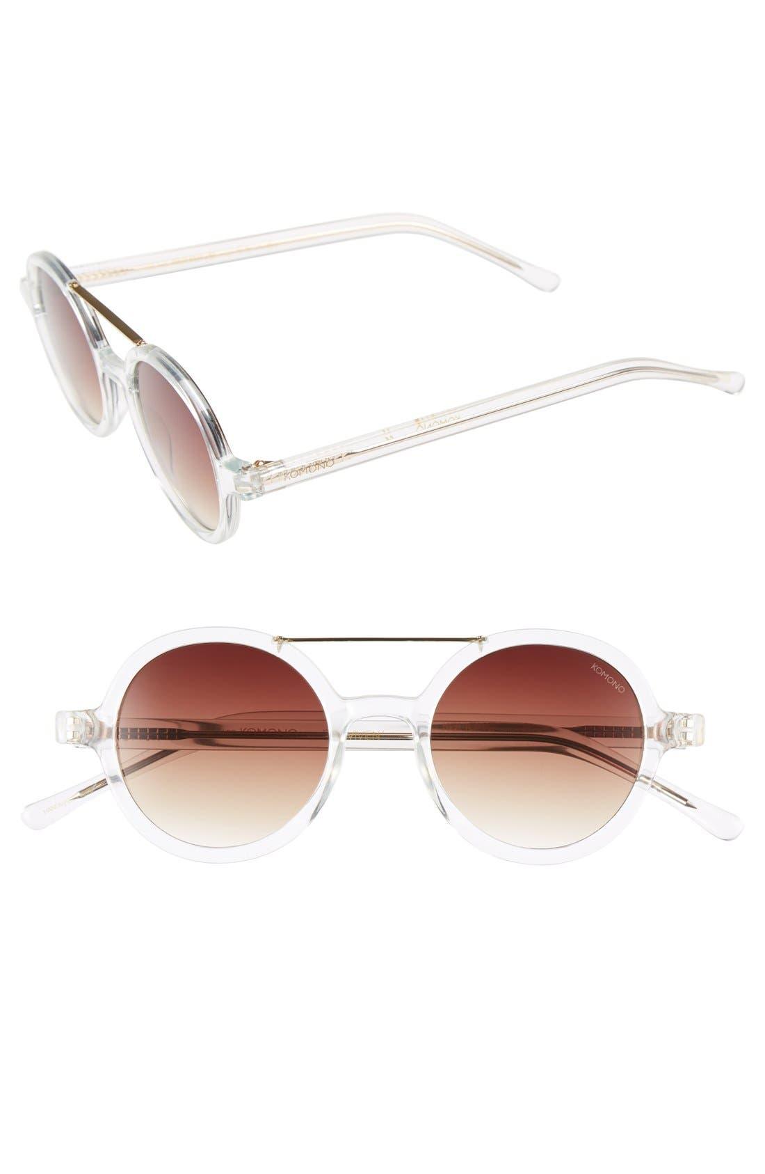 ,                             'Vivien' Round Lens Sunglasses,                             Main thumbnail 3, color,                             100