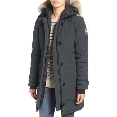 Canada Goose Lorette Hooded Down Parka With Genuine Coyote Fur Trim, (0) - Grey