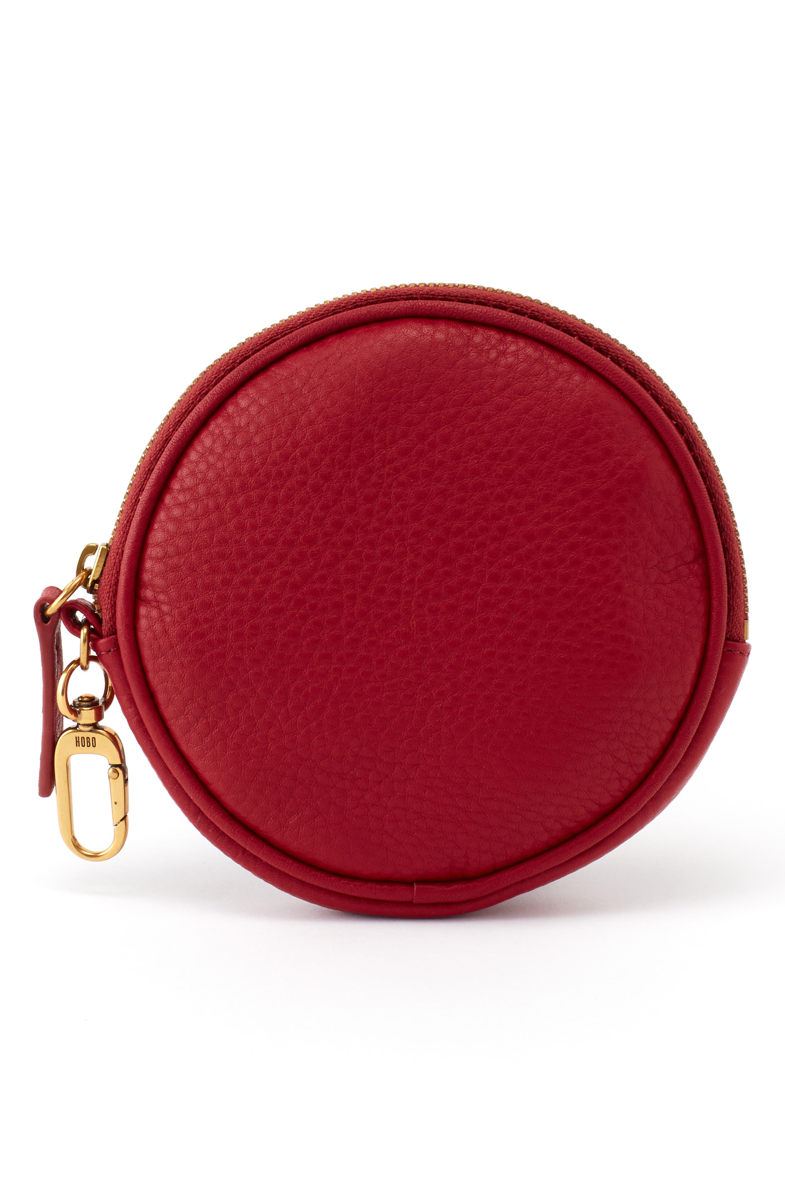 Revolve Clip Round Leather Pouch