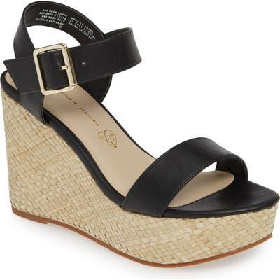 Bc Footwear Peonies Vegan Wedge Sandal, Black