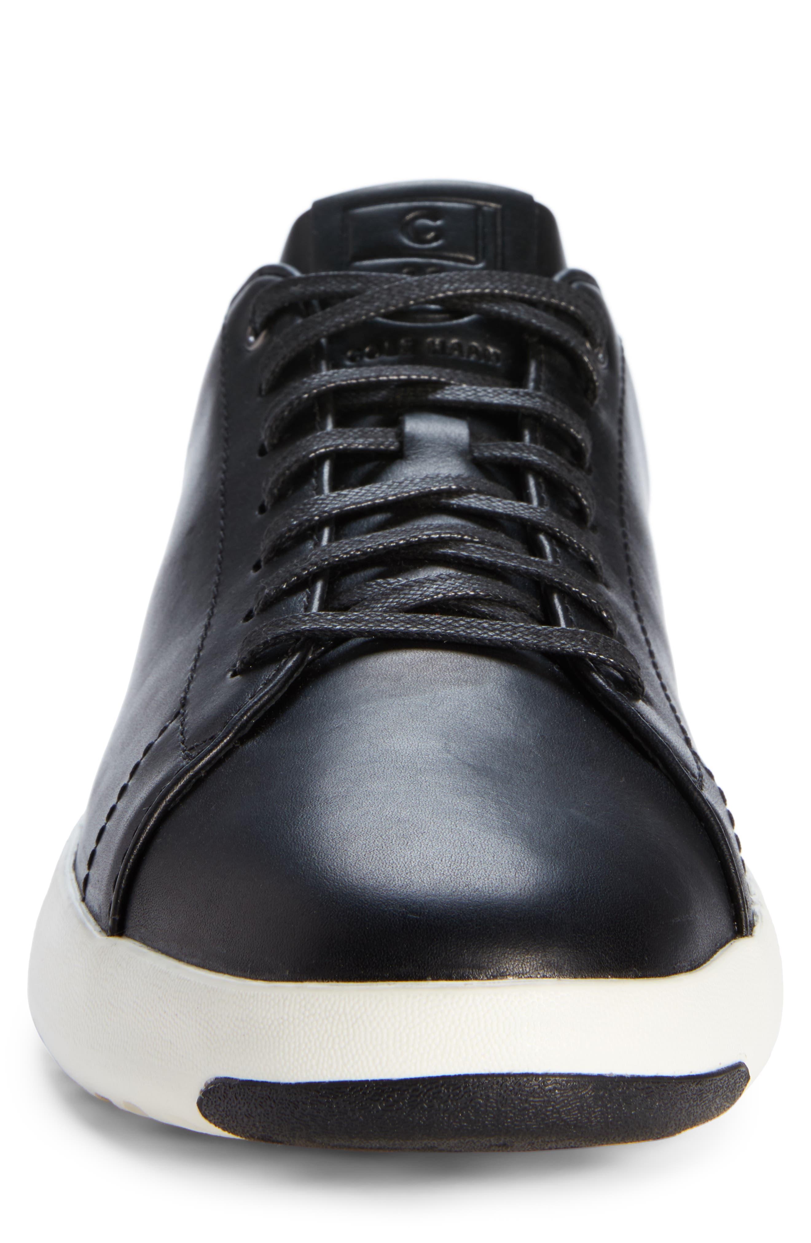 ,                             GrandPro Tennis Sneaker,                             Alternate thumbnail 4, color,                             BLACK LEATHER