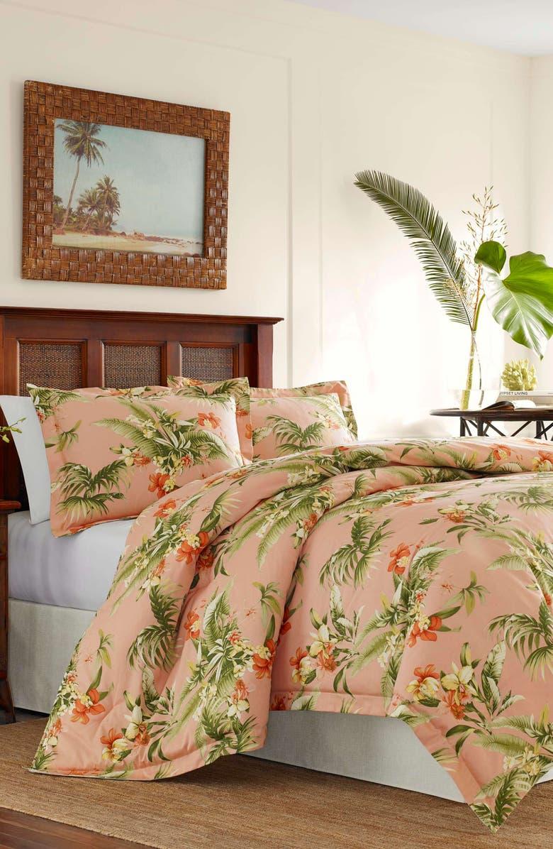 TOMMY BAHAMA Siesta Key Comforter, Sham & Accent Pillow Set, Main, color, CANTALOUPE