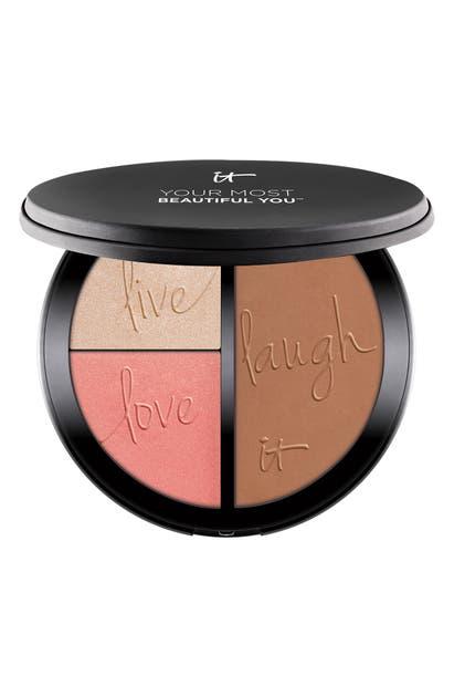It Cosmetics Most Beautiful You Anti-aging Matte Bronzer, Radiance Luminizer & Brightening Blush Palette
