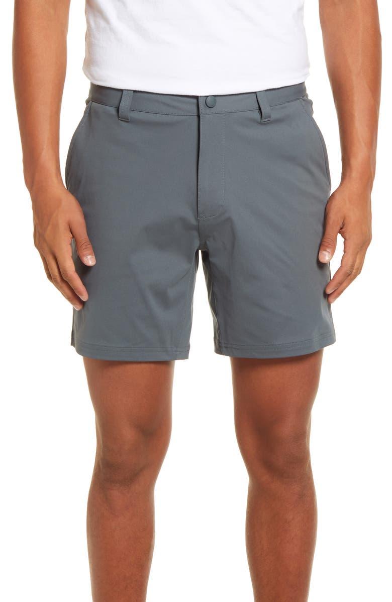 "RHONE 7"" Commuter Shorts, Main, color, NEPHRITE"