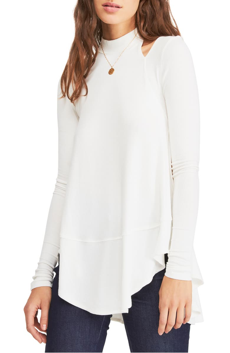 FREE PEOPLE Downtown Girl Cutout Tunic, Main, color, IVORY