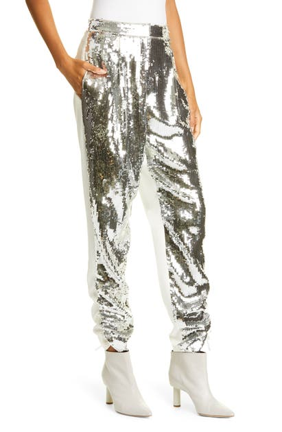 Tibi Pants AVRIL SEQUIN FRONT TROUSERS