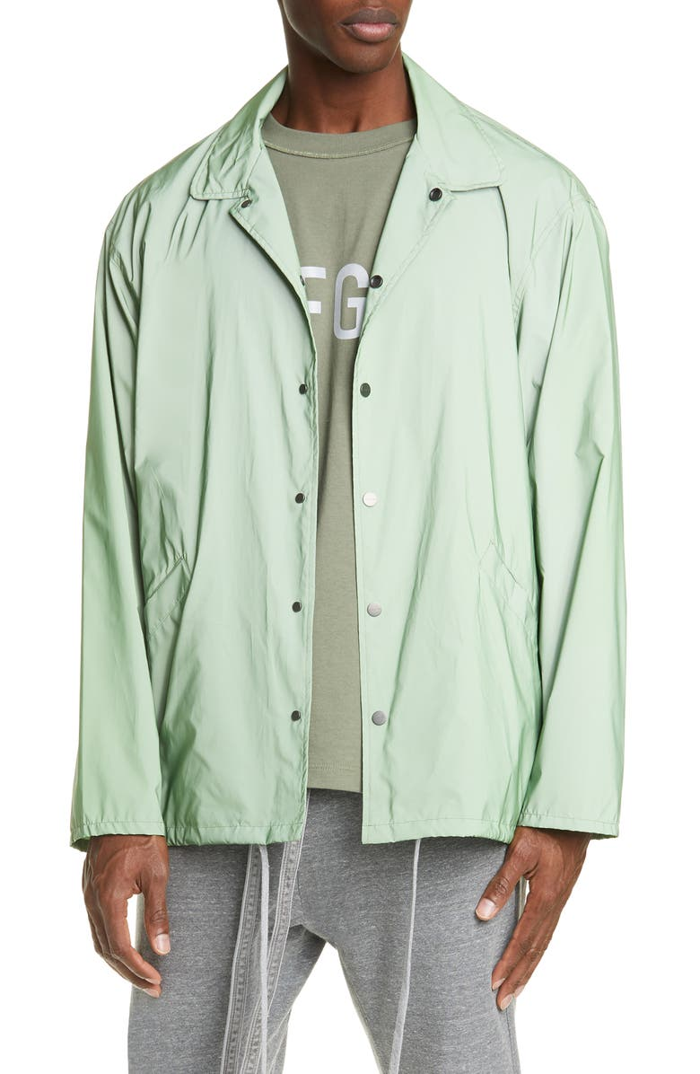 FEAR OF GOD Oversize Reflective Nylon Jacket, Main, color, ARMY IRIDESCENT