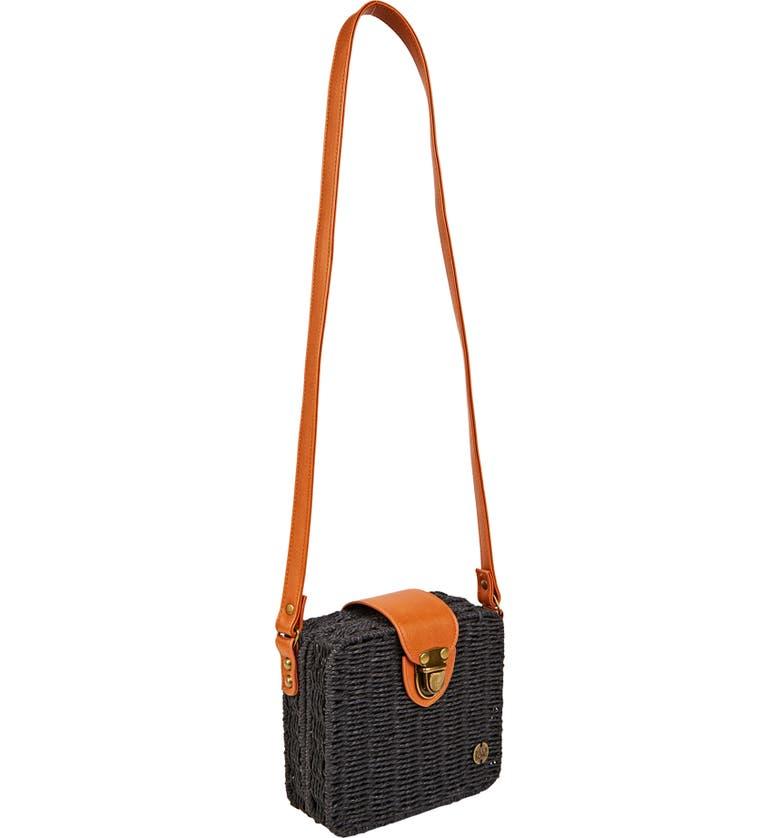 BILLABONG Gimme Some Straw Shoulder Bag, Main, color, 001