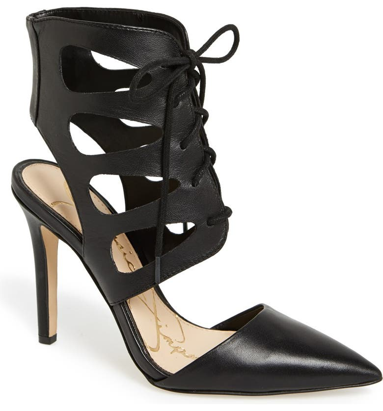 JESSICA SIMPSON 'Cecerre' Caged Pointy Toe Pump, Main, color, 001