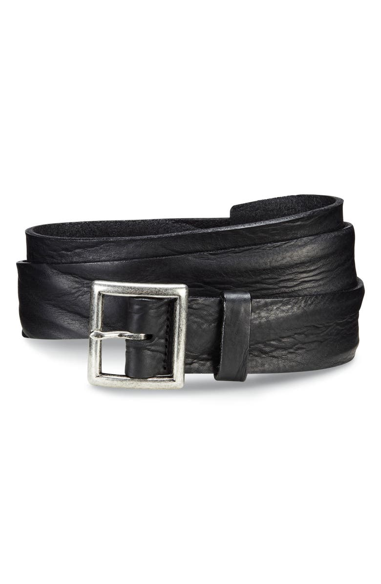 ALLEN EDMONDS Radcliff Avenue Leather Belt, Main, color, BLACK