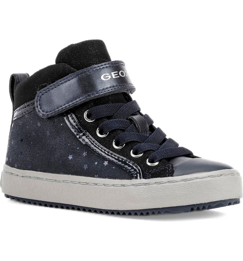 GEOX Kalispera Sparkle High-Top Sneaker, Main, color, NAVY