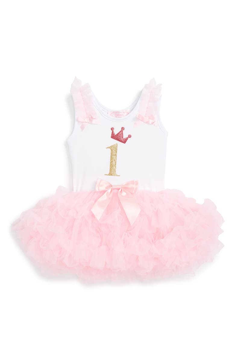 POPATU Birthday Tutu Dress, Main, color, PINK