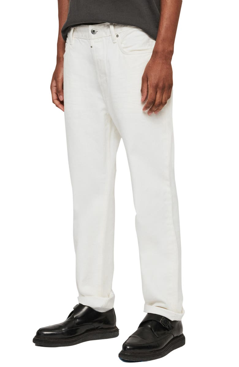ALLSAINTS Nara Straight Leg Jeans, Main, color, CHALK