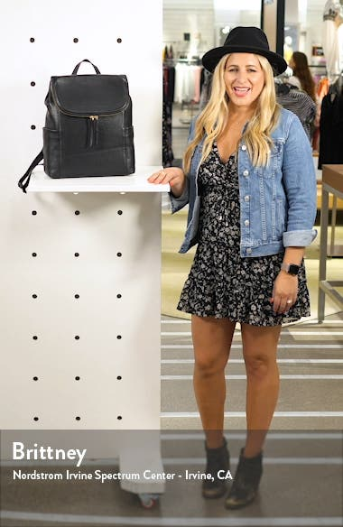 Reah Leather Backpack, sales video thumbnail