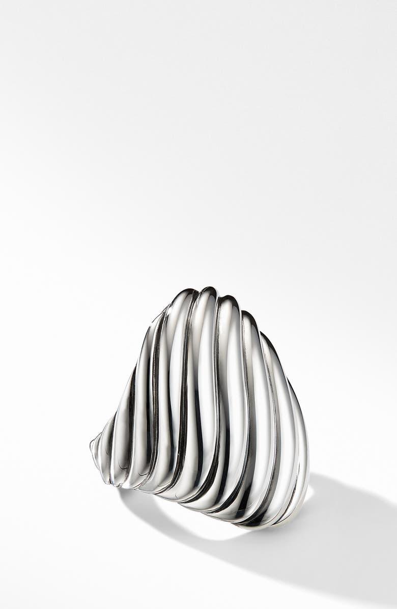 DAVID YURMAN Cable Ring, Main, color, SILVER