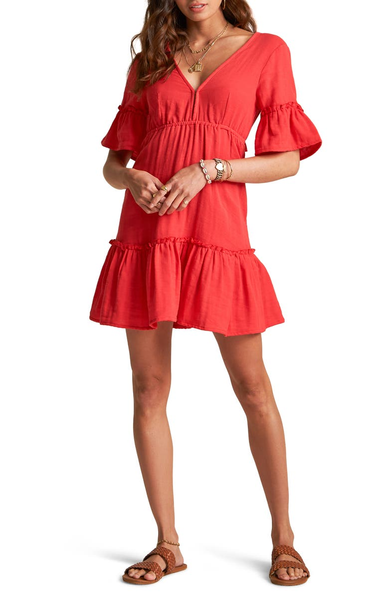BILLABONG x Sincerely Jules Lovers Wish Dress, Main, color, RIO RED