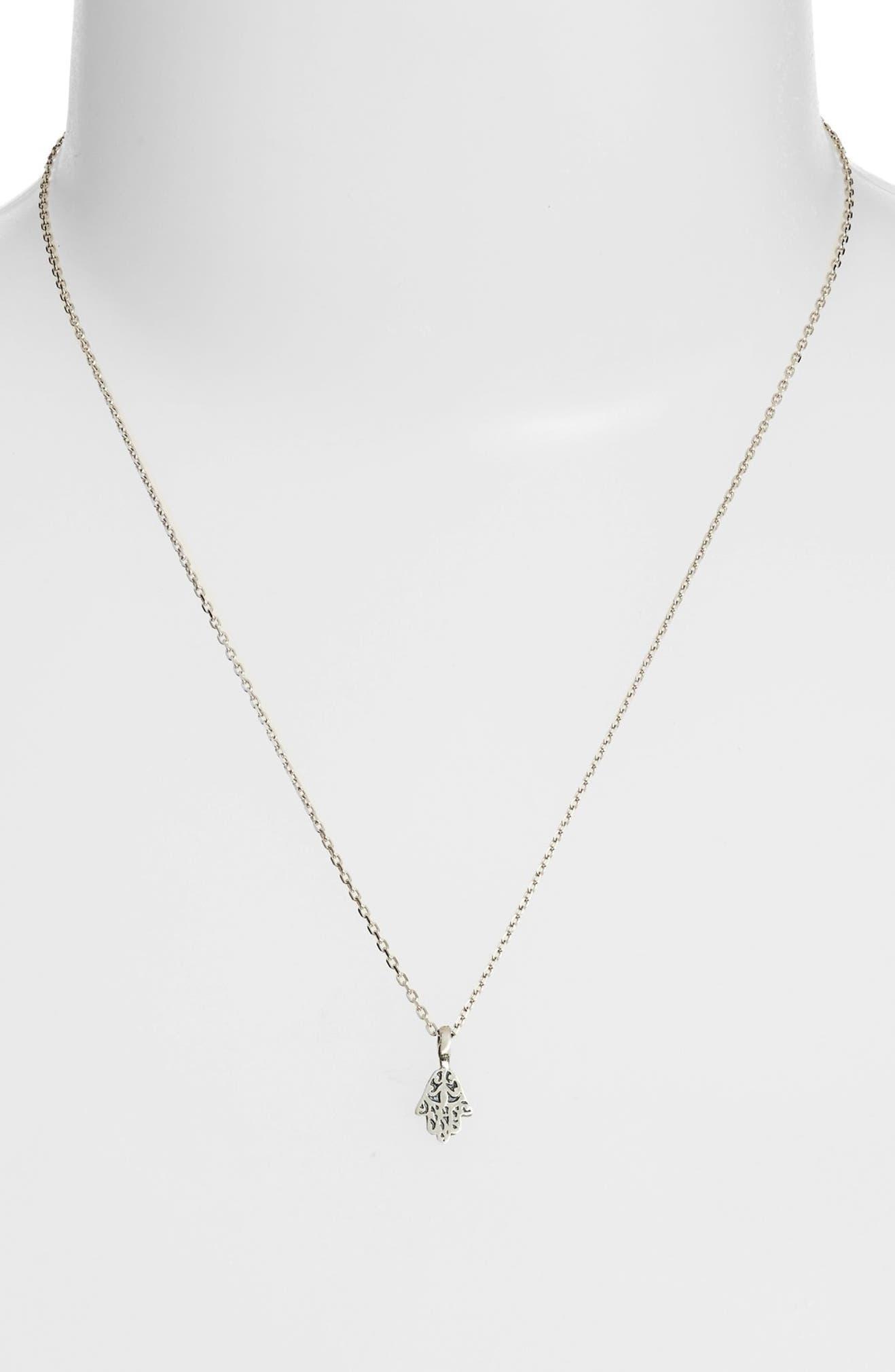 Satya Jewelry Hamsa Pendant Necklace | Nordstrom