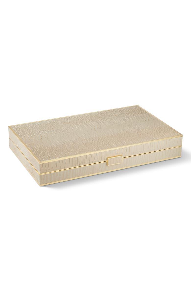 AERIN Croc Embossed Backgammon Set, Main, color, 250