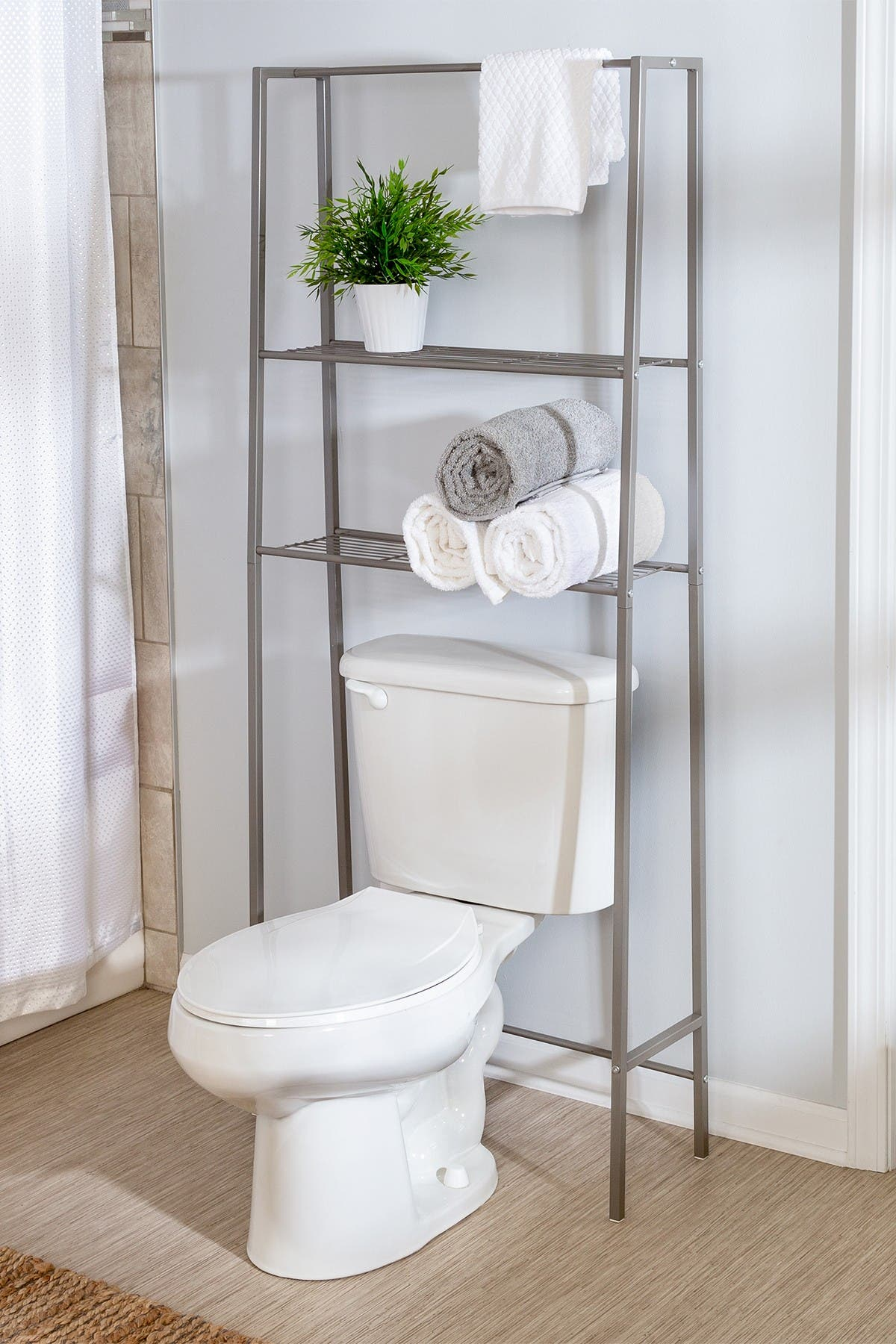 Image of Honey-Can-Do Nickel Over-the-Toilet Space Saver