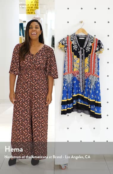 Moore Mix Print Minidress, sales video thumbnail