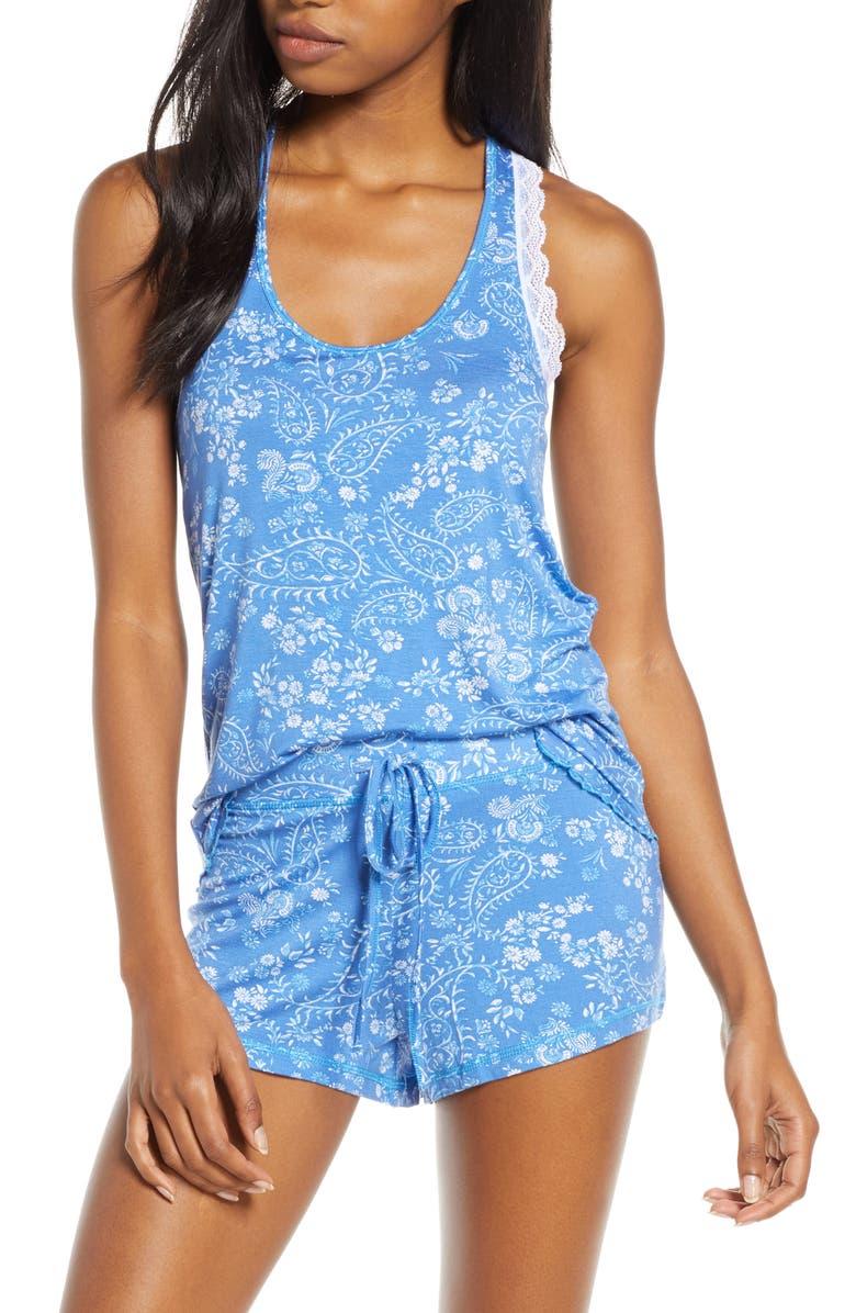 HONEYDEW INTIMATES All American Shortie Pajamas, Main, color, SEASIDE PAISLEY