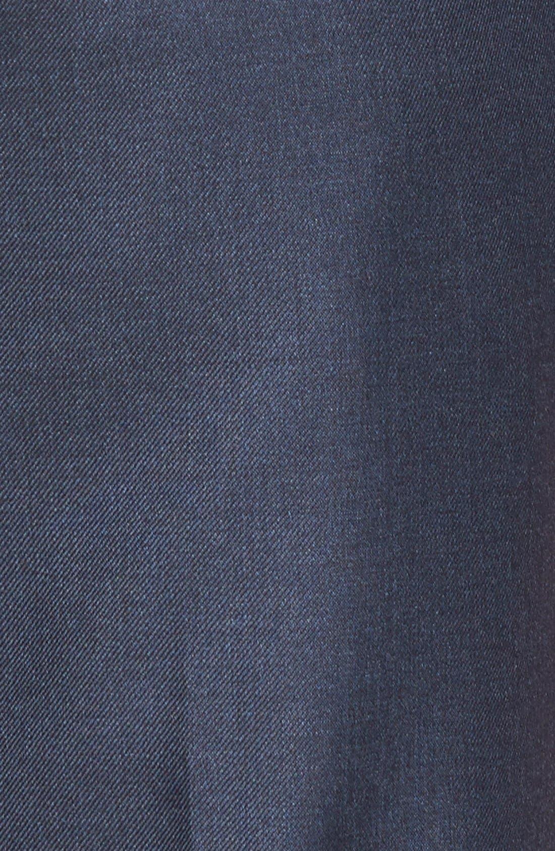 ,                             Luxury Flat Front Wool Trousers,                             Alternate thumbnail 3, color,                             MEDIUM BLUE