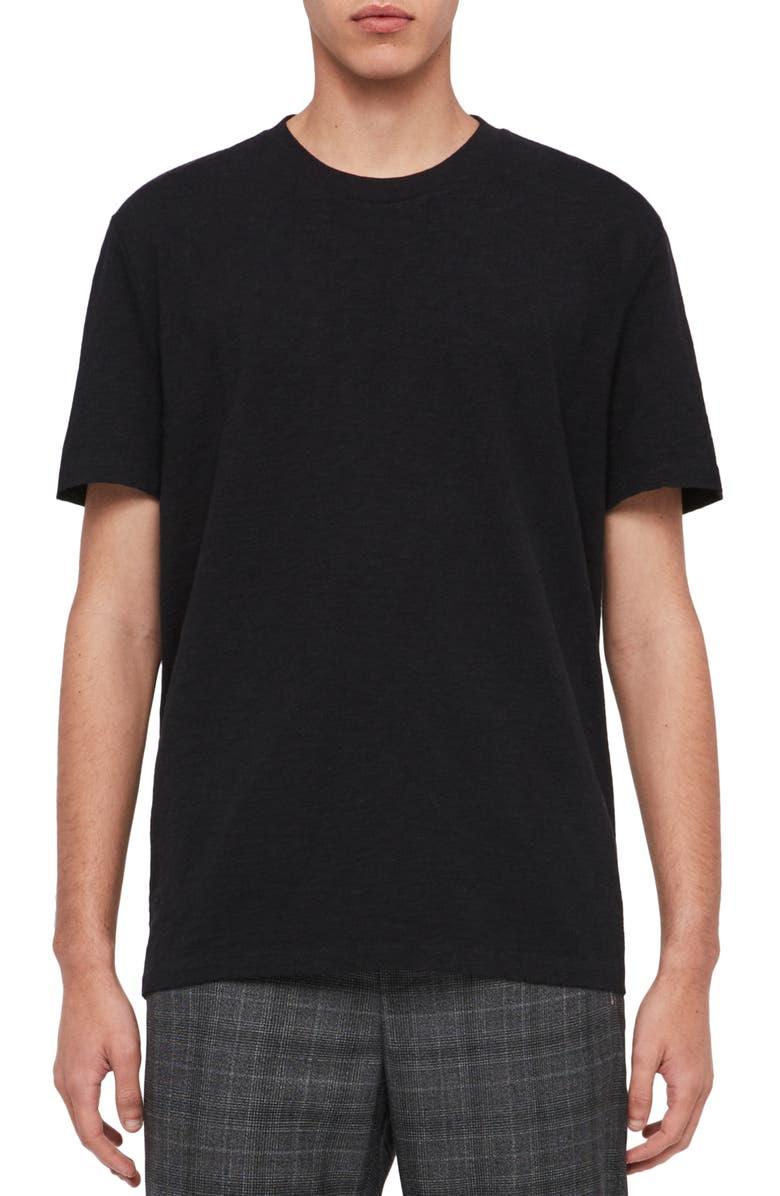 ALLSAINTS Sage Crewneck T-Shirt, Main, color, JET BLACK