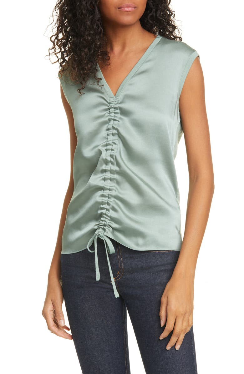 TED BAKER LONDON Polii Ruched Front Top, Main, color, MINT