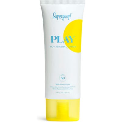 Supergoop! Play 100% Mineral Lotion Spf 50 Sunscreen, .4 oz
