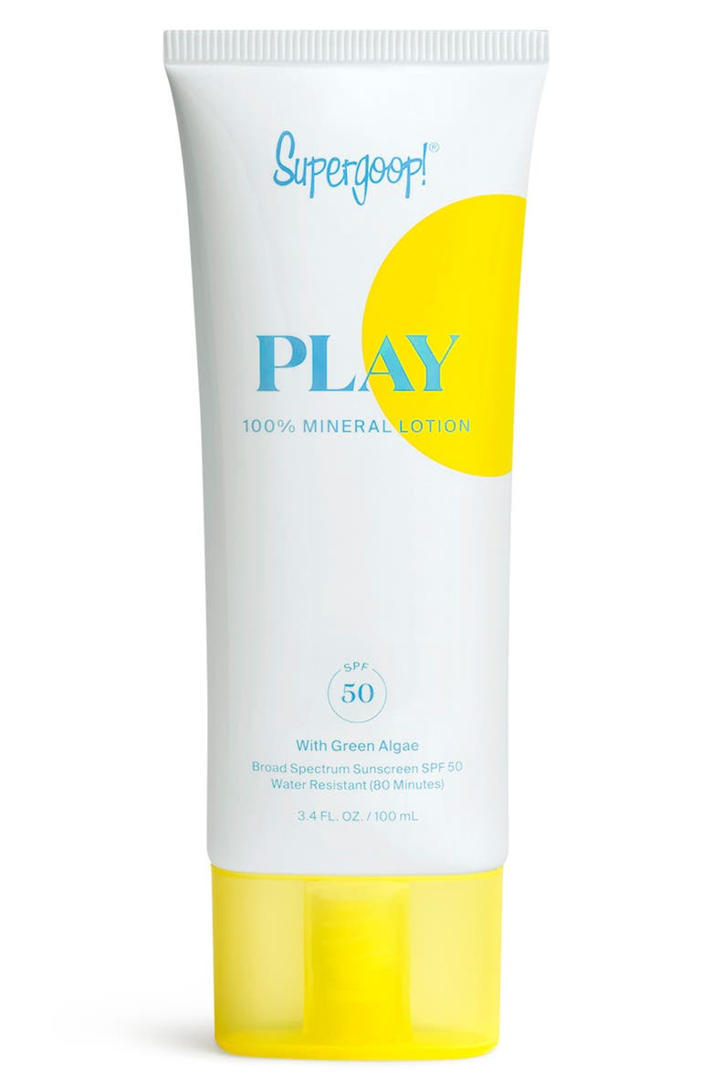 SUPERGOOP!<SUP>®</SUP> Supergoop! PLAY 100% Mineral Lotion SPF 50 Sunscreen, Main, color, NO COLOR