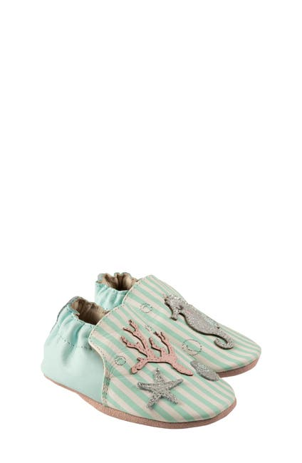 Image of Robeez Coral Leather Slip-On Shoe